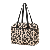 Monogrammed Wild Side Leopard Lunch Box Tote Bag